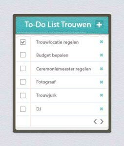 to do list trouwen